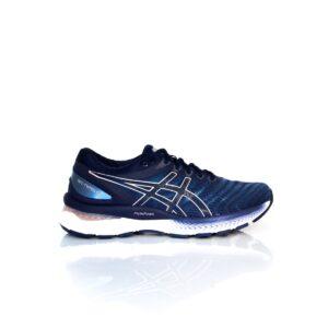 Asics Nimbus 22 Grey Floss/Peacoat Womens Road Running Shoe