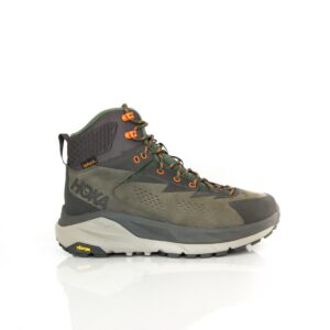 Hoka Sky Kaha Black Olive/Green Mens eVent Hiking Shoe