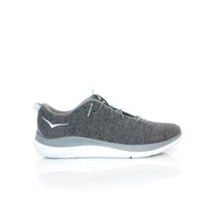 Hoka Hupana Flow Wool Dark Shadow/Charcoal Grey Mens Lifestyle