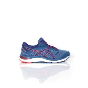 Asics Cumulus 20 Wide (D) Azure/Blue Print Womens Road Running Shoe