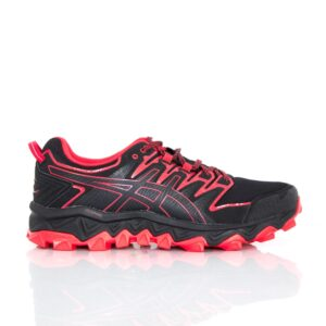 Asics Gel-Fuji Trabuco 7 (2E) Black/Classic Red Mens Trail Running