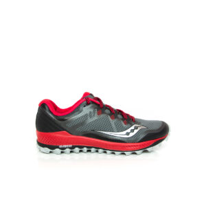 Saucony Peregrine 8 Black/Red Mens Trail Running