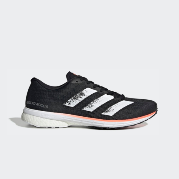 Adidas Adizero Adios 5 Core Black/Cloud White/Signal Coral EE4292 Mens