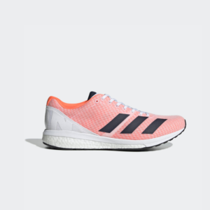 Adidas Adizero Boston 8 Cloud White/Collegiate Navy/Solar Orange F34054 Womens