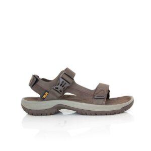 Teva Tanway Leather Chocolate Brown Mens Sandals