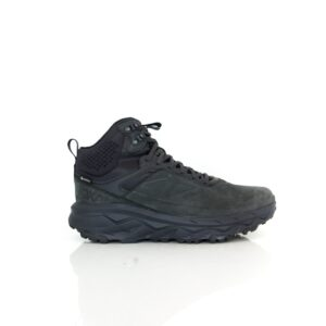 Hoka Challenger Mid Gore-Tex Black Mens Leather Walking Shoe