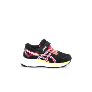 Asics Pre Excite 6 PS Black/Laser Pink Kids Running Shoes
