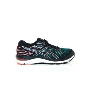 Asics Cumulus 21 (D) Black/ Sun Coral Womens Road Running Shoe