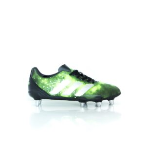 Adidas Kakari Elite (SG) Core Black/Silver Metallic/Solar Green BA9041 Rugby Boots