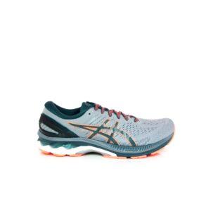 Asics Kayano 27 Sheet Rock/Magnetic Blue Mens Road Running Shoe