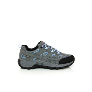 Merrell Moab 2 Low Lace Waterproof Grey/Periwinkle Kids Walking Shoes
