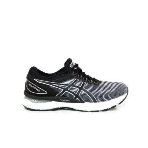Asics Nimbus 22 Black/White Mens Road Running Shoes