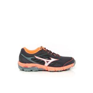 Mizuno Wave Kien 4 Grey/Coral Womens Trail Running