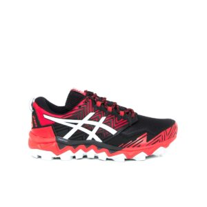 Asics Fuji Trabuco 8 (2E) Classic Red/Piedmont Grey Mens Trail Running Shoe
