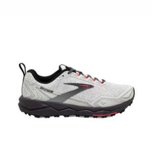 Brooks Divide White/Grey/Coral Womens