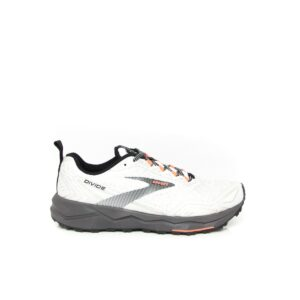 Brooks Divide White/Grey/Coral Womens Trail Running Shoe