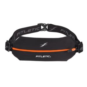 Fitletic Mini Sport Belt - Black / Orange Zip