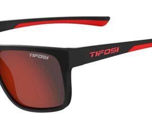 Tifosi Swick Satin Black/Crimson Red Lenses Sunglasses