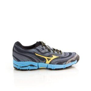 Mizuno Wave Kazan Blue/Yellow Womens Trail Running Shoe