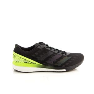 Adidas Adizero Boston 9 Core Black/Core Black/Signal Green EG4657 Mens Road Running Shoe