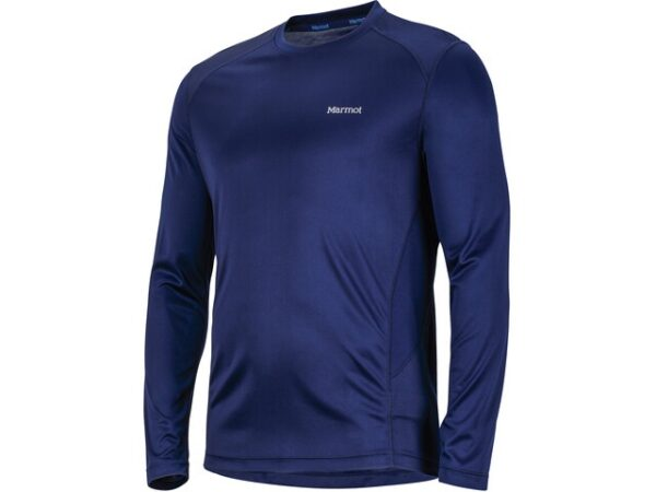Marmot Windridge LS Arctic Navy Mens Running Top