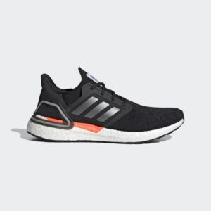 Adidas Ultraboost 20 Core Black / Iron Metallic / Football Blue FX7979 Mens
