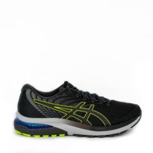 Asics Cumulus 22 (2E) Graphite Grey/Lime Zest Mens Road Running Shoe