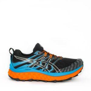 Asics Trabuco Max Black/Digital Aqua Mens Maximalist Trail Running Shoe