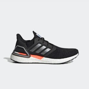 Adidas Ultraboost 20 Core Black / Iron Metallic / Football Blue FX7979 Mens