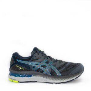 Asics Gel-Nimbus 23 Carrier Grey/Digital Aqua Mens Road Running Shoe