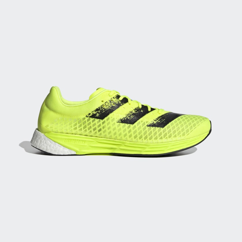 Adidas Adizero Pro Solar Yellow/Core Black/Cloud White Mens