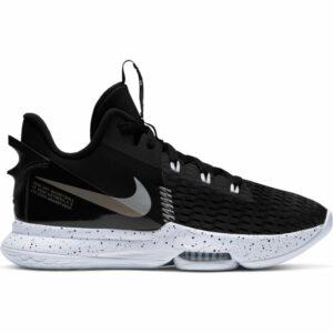 Nike Lebron Witness V Black/White Mens Basketball Shoe