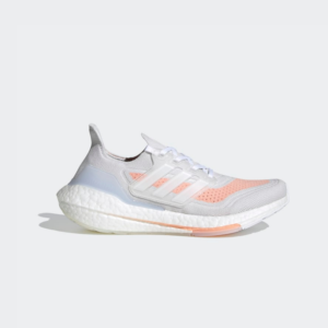 Adidas Ultraboost 21 Core Crystal White / Cloud White / Glow Pink FY0396 Womens