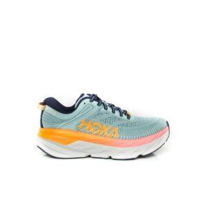Hoka Bondi 7 (D) Blue Haze/Black Iris Womens Road Running Shoe