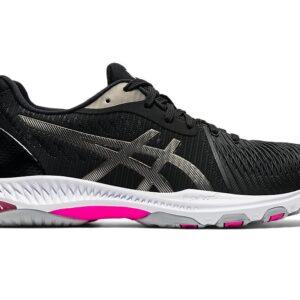 Asics Gel-Netburner Ballistic FF 2 Black/Gunmetal Womens Court Shoe