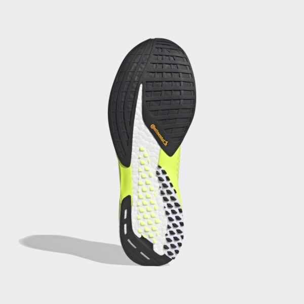 Adidas Adizero Pro Solar Yellow / Core Black / Cloud White Mens Carbon plate road running