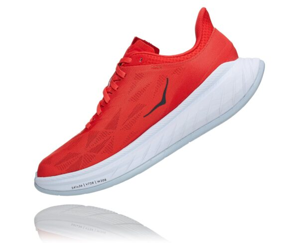 Hoka Carbon X 2 Fiesta/White Mens Carbon Shoe