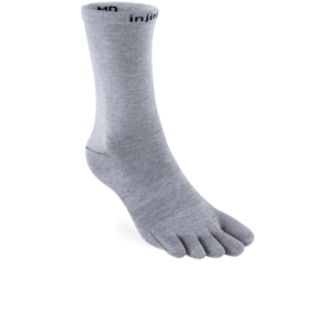 Injinji Liner 2.0 Lightweight Crew Sock Grey Toe Socks